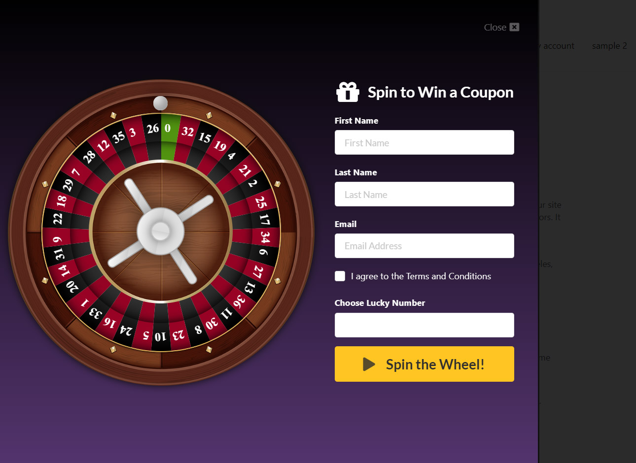 WP Roulette Wheel – Spin to Win WooCommerce Coupons - 4