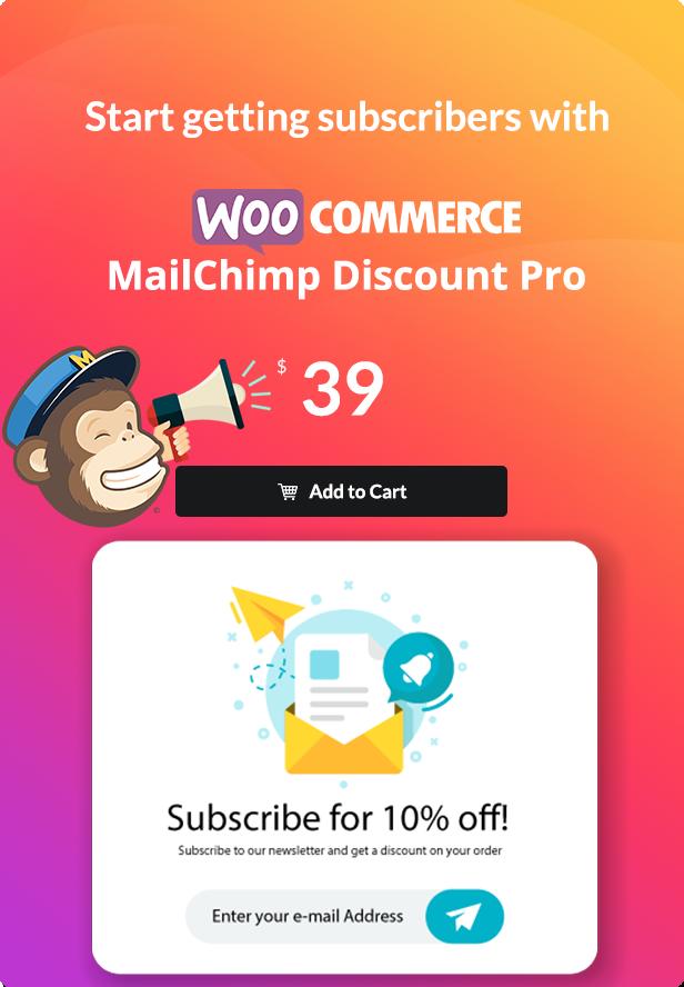 WooCommerce MailChimp Discount PRO - 1